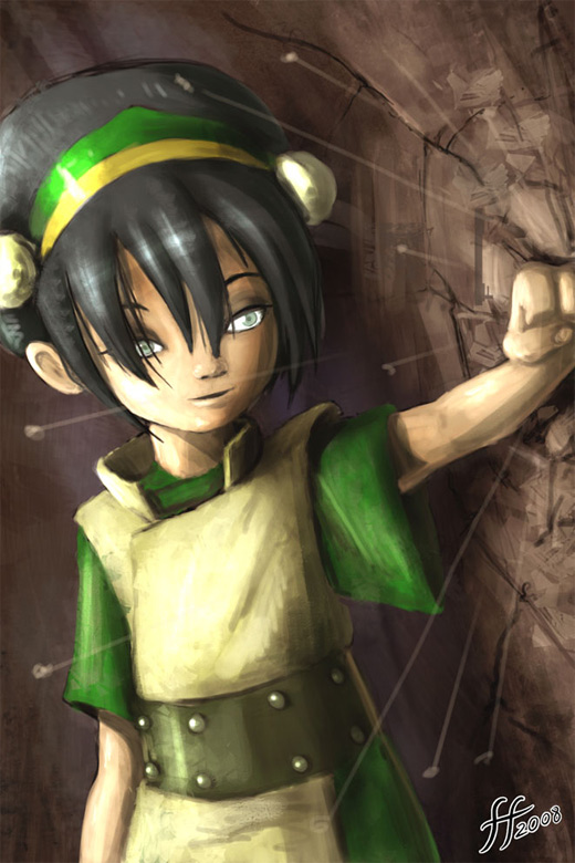 Rock earth punch toph avatar artwork illustrations