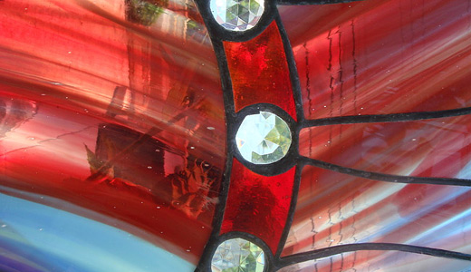 Red stained glass textures