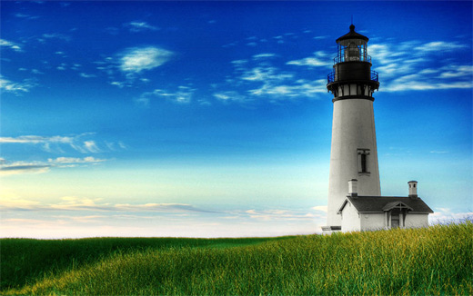 Dreamy lovely lighthouse photography