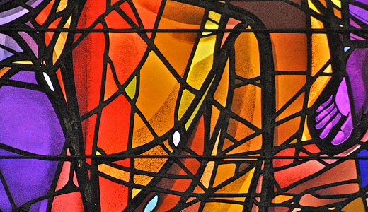 Red orange stained glass textures