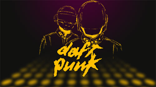 Daft Punk Vector Wallpaper