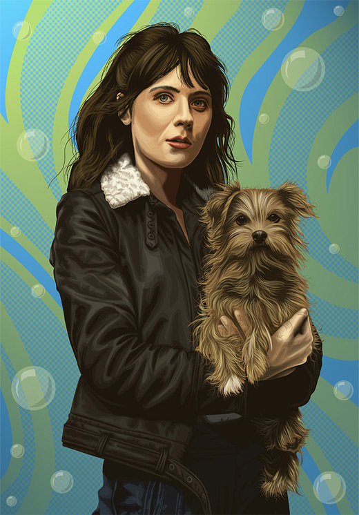 Zooey deschanel celebrity vector vexel illustrations
