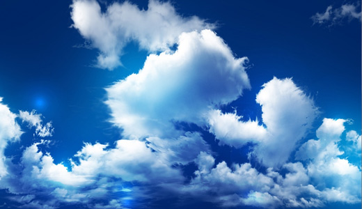 Blue sky white clouds wallpaper free download hi res high resolution