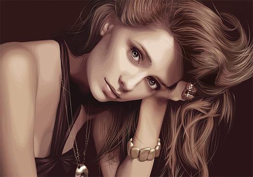 Mischa celebrity vector vexel illustrations