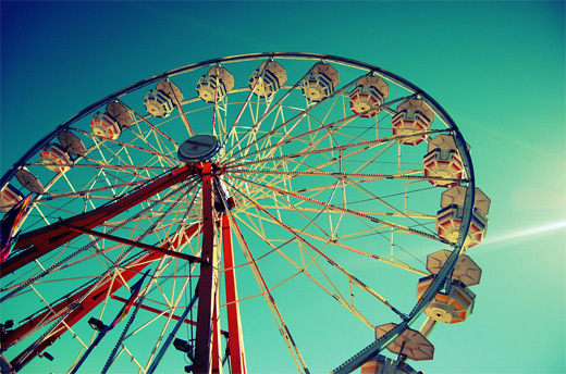 Beautiful amazing ferris wheel photography