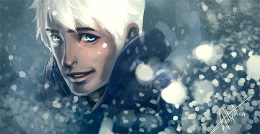 Handsome snow jack frost artwork illustrations