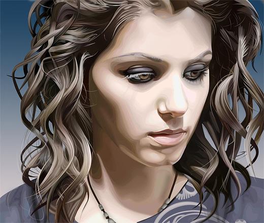 Katie melua celebrity vector vexel illustrations