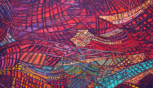 Colorful beautiful stained glass textures