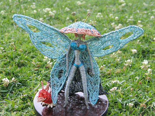 Fairy wire sculpture