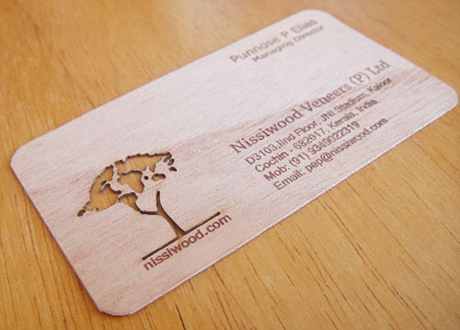 A collection of creative wooden business cards naldz graphics tree wood colourmoves