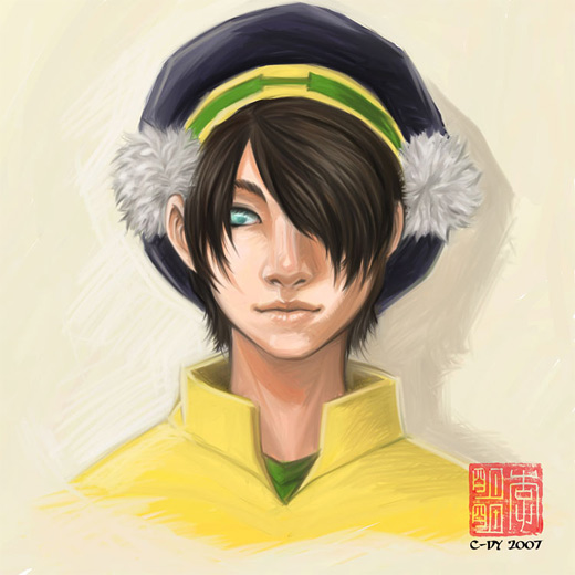 Face portrait toph avatar artwork illustrations