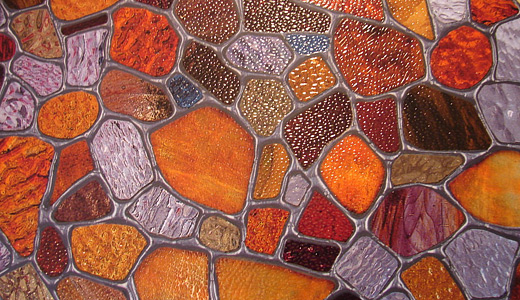 Pebble stained glass textures