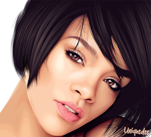 Rihanna celebrity vector vexel illustrations