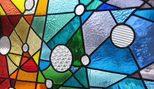 Colorful abstract stained glass textures