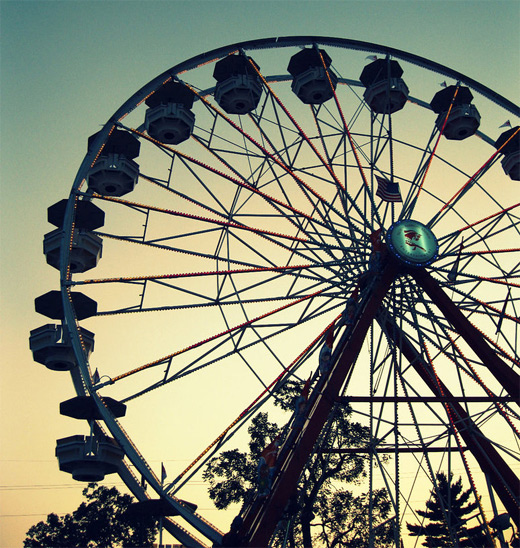 Cool ferris wheel photography
