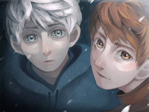 Wide eyed cute jack frost artwork illustrations