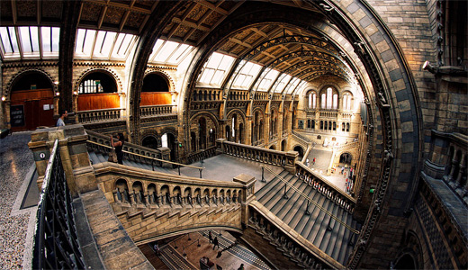 London architectural interior buildings fisheye view fish eye photography