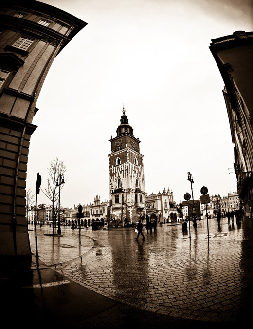 Krakow poland fisheye view fish eye photography