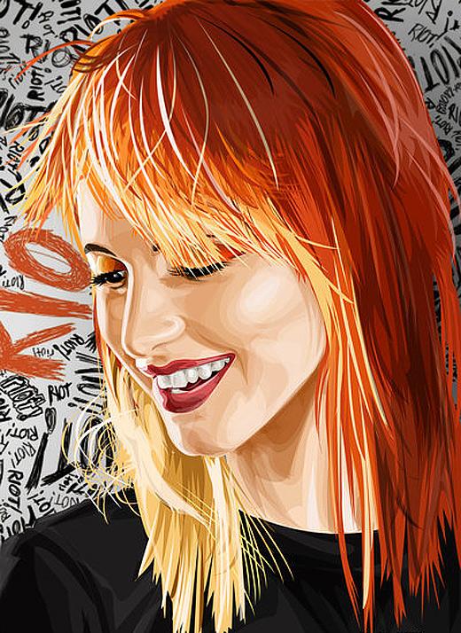 Hayley williams celebrity vector vexel illustrations