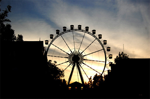 silhouette ferris wheel photography