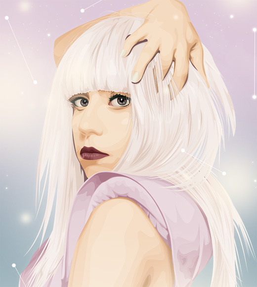 Lady gaga celebrity vector vexel illustrations