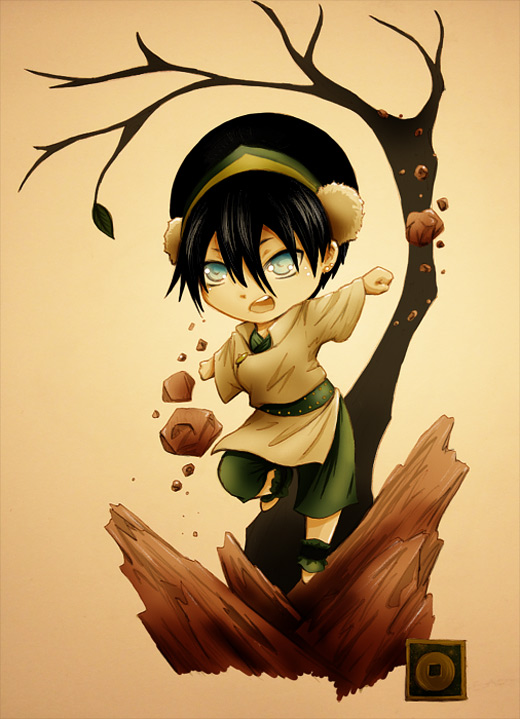 Chibi cute toph avatar artwork illustrations