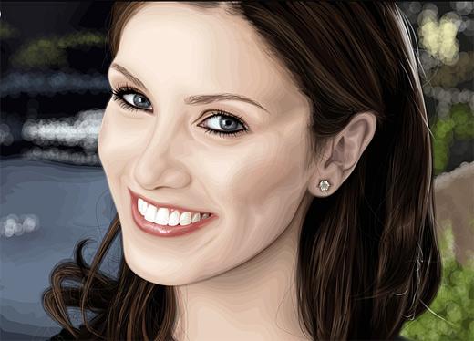 Delta goodrem celebrity vector vexel illustrations