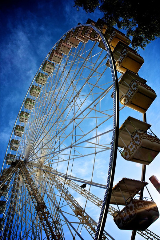 Lovely french ferris wheel photography
