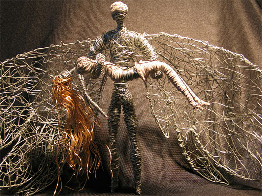 Barbarella pygar wire sculpture