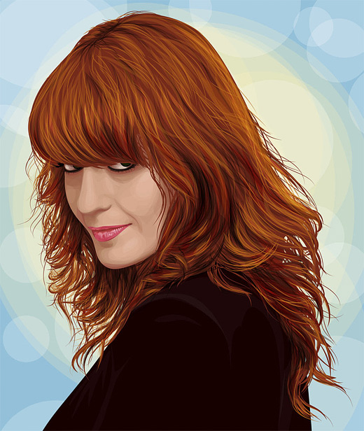 Florence machine celebrity vector vexel illustrations