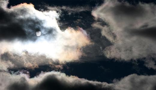 Night moon clouds wallpaper free download hi res high resolution