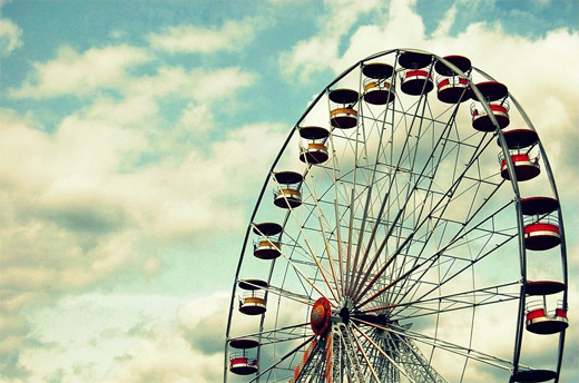 Cloud sky ferris wheel photography