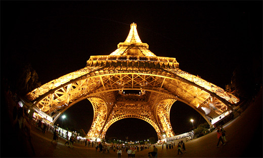 Eiffel tower paris fisheye view fish eye photography