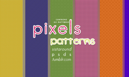 colorful pixel patterns