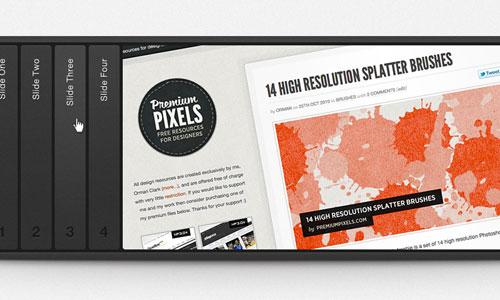 Free Creative Image Slider PSD