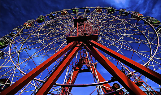Stormy storm cloudy ferris wheel photography