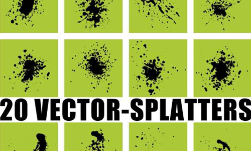 20 Vector-Splatters SVG