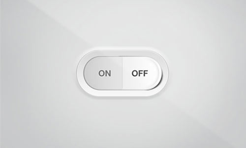 Toggle On – Off Switch PSD