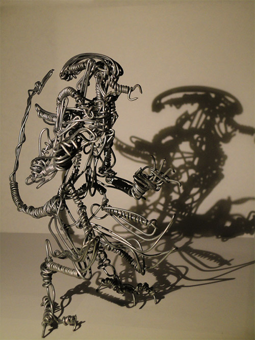 alien wire sculpture