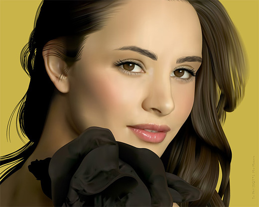 Mia maestro celebrity vector vexel illustrations