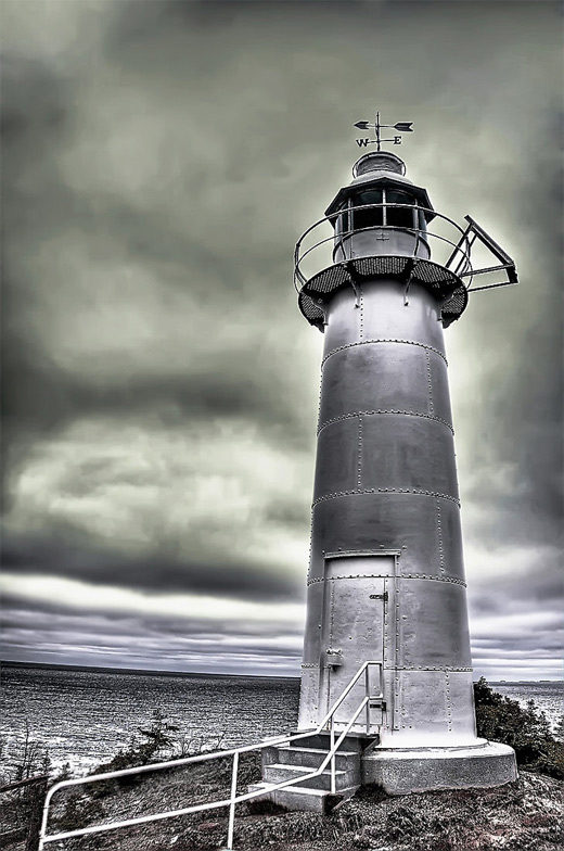 Steel lighthouse photography