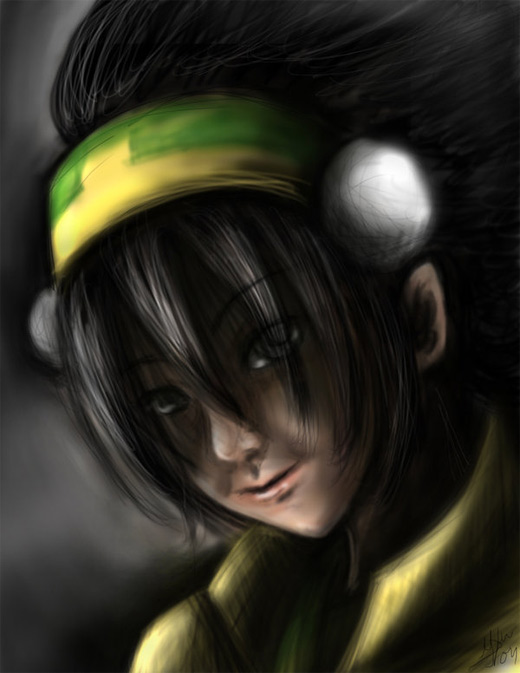 Air brush toph avatar artwork illustrations