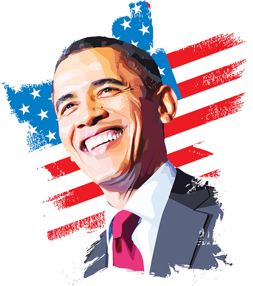Barrack obama celebrity vector vexel illustrations