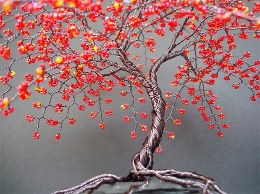 Cherry blossom wire sculpture
