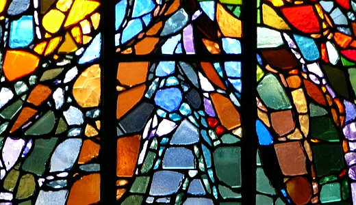 Colorful window stained glass textures
