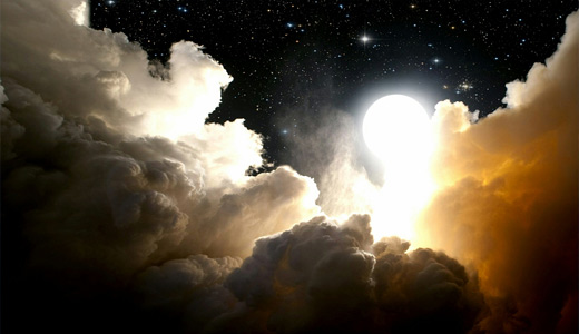Night white clouds wallpaper free download hi res high resolution