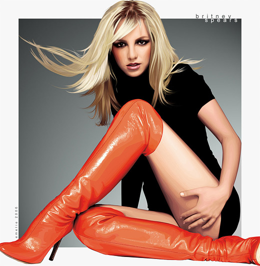 Britney spears celebrity vector vexel illustrations