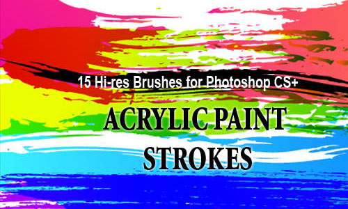 Grunge Brushes: 18 Acrylic Paint Strokes