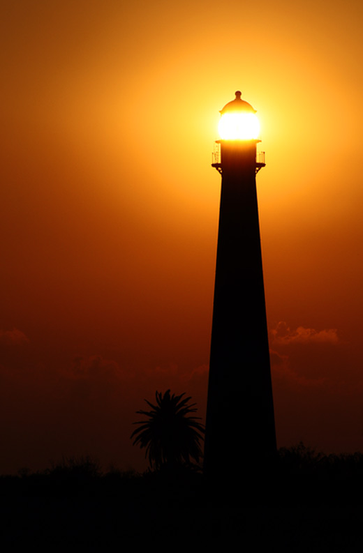 Silhouette lighthouse photography