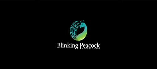 Blinking Peacock Productions logo